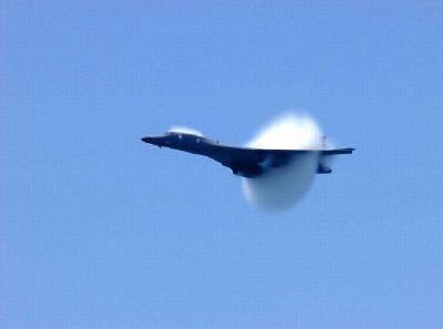 飞机出现音爆云 就已经进入音速了吗?