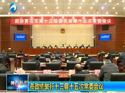 市政协举行十三届十五次常委会议