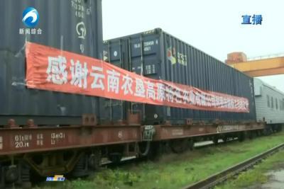 """云南送来216吨""""爱心菜"""" 为黄石加油"""