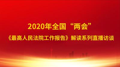 """2020年全国""""两会""""丨《最高人民法院工作报告》同步解读"""