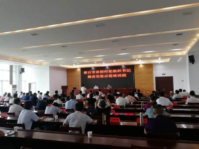 全市贫困村党组织书记脱贫攻坚示范培训班在阳新县委党校开班