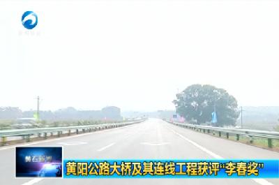 """黄阳公路大桥及其连线工程评""""李春奖"""""""
