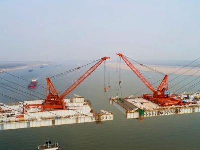 湖北又一长江大桥合龙在即!为世界最大跨径钢混结合梁斜拉桥
