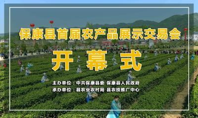 直播丨保康县首届农产品展示交易会开幕式