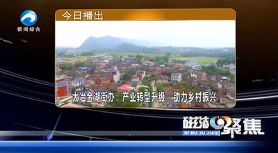 大冶金湖街办:产业转型升级  助力乡村振兴