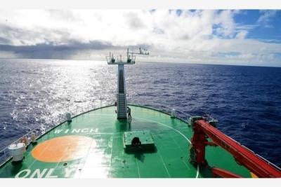 中国首次环球海洋综合科考在南大西洋获得20余吨样品