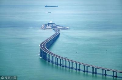 震撼航拍来了!你好,港珠澳大桥!