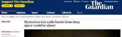 深扒来自宇宙的神秘电波:霍金的警告该听吗?