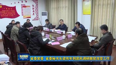 省委常委 省委秘书长梁伟年到团风调研脱贫攻坚工作