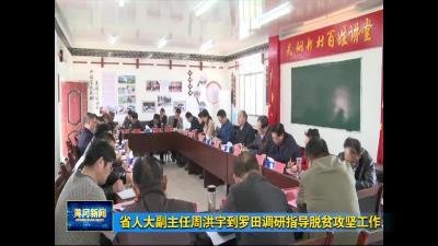 省人大副主任周洪宇到罗田调研指导脱贫攻坚工作