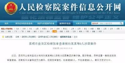 中央督导组交办案件,孙某某等9人涉恶被审查逮捕!