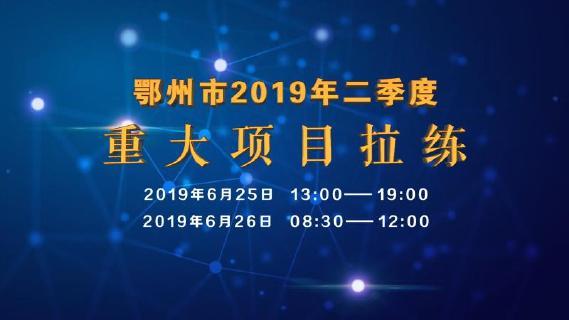 图文直播 全程聚焦|鄂州市2019年二季度重大项目拉练