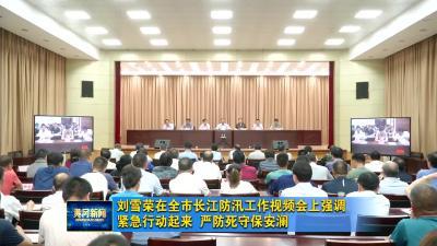 刘雪荣在全市长江防汛工作视频会上强调 紧急行动起来 严防死守保安澜
