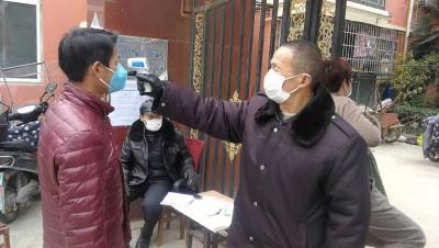团风县市民齐携手  共同筑牢疫情防线