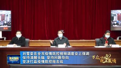 刘雪荣在全市疫情防控视频调度会强调保持清醒头脑 坚持问题导向 坚决打赢疫情防控阻击战