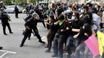 抗议警察执法失当 示威活动蔓延美国多地