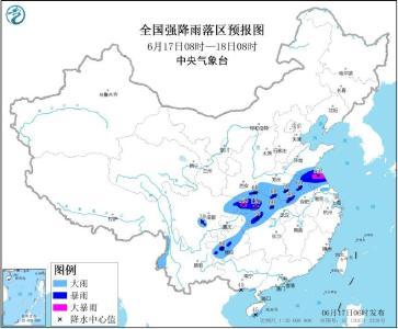 暴雨黄色预警:江苏湖北重庆等地局地大暴雨