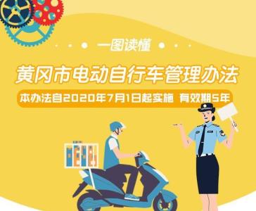 《黄冈市电动车管理办法》7月1日实施 有效期5年
