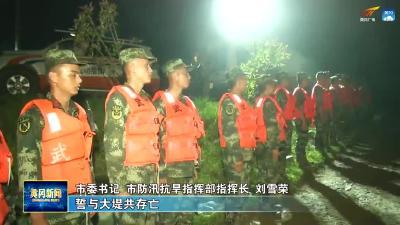 刘雪荣检查督导团风举东堤防汛抢险工作