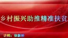 荆楚讲坛:乡村振兴助推精准扶贫。主讲人:徐新桥。