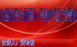 荆楚讲坛:加强党的全面领导 勇担时代历史使命
