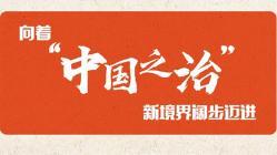 """向着""""中国之治""""新境界阔步迈进"""
