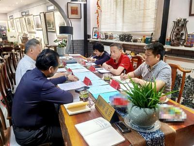 張明新副主席一行到省學院空間藝術研究院調研