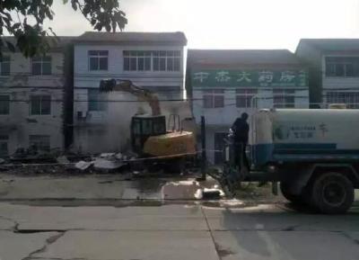拆违治乱!荆州区2村一天2900多平米违建被拆除