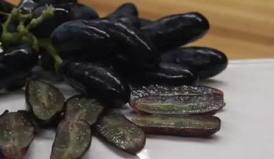 状若小手指,肉质脆嫩有嚼劲,这种葡萄一串卖到上百元