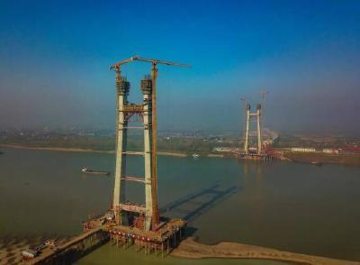 洪湖至赤壁长江公路大桥预计2020年实现主塔封顶