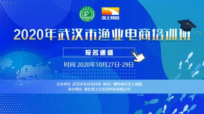 2020年武汉市渔业电商培训招生啦!全免费!
