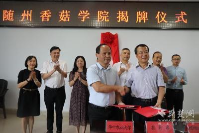 """随州香菇学院成立!服务""""中国香菇之乡""""全产业链可持续发展"""