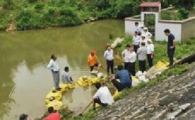 千里汉江超警戒水位 湖北207名县级以上干部带班巡堤